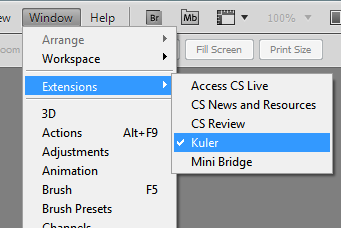kuler window in Adobe CS5 programs